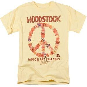 Halloween Hippie Yellow Woodstock tee